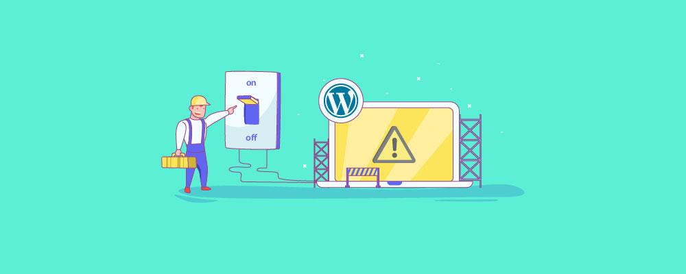 Ativar o modo de manutenção do WordPress sem um plug-in