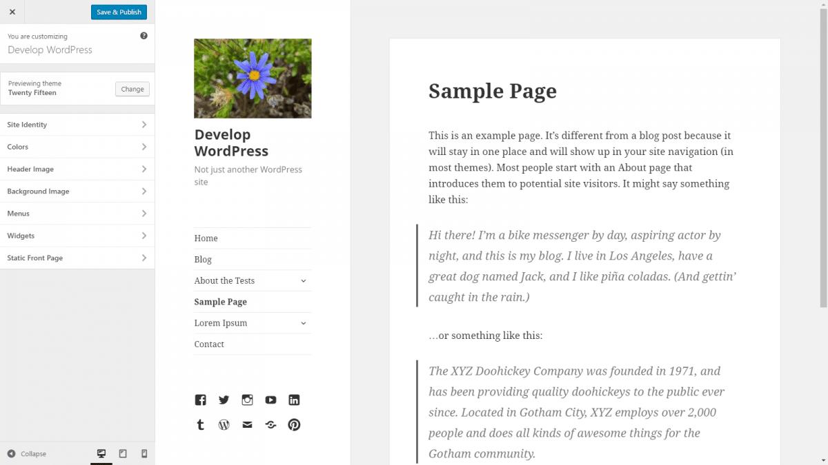 Como remover itens e seções do Personalizador do WordPress?